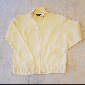 Eddie Bauer winter white cardigan sweater Sz. L